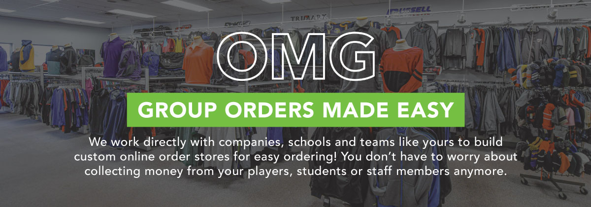 Group Orders Made Easy We work directly with companies, schools and teams like yours to build custom online order stores for easy ordering!